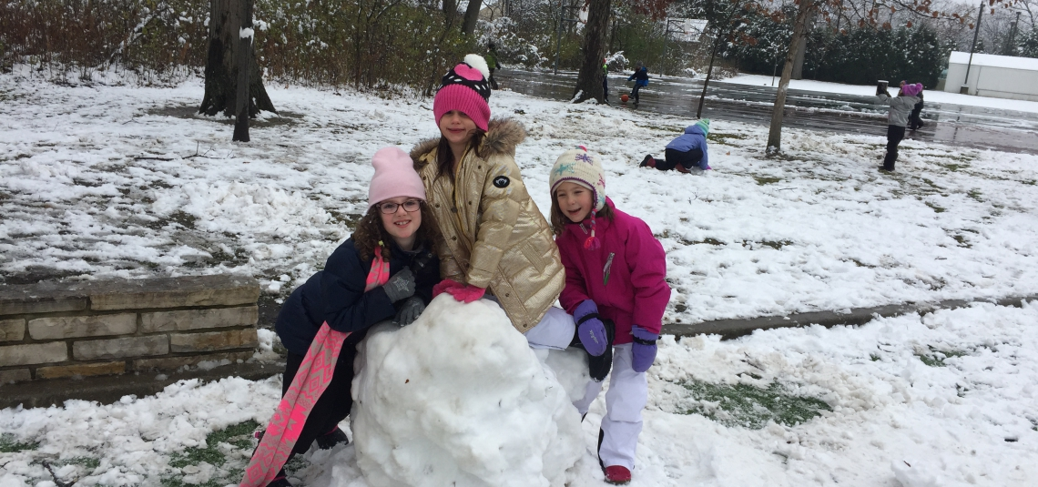 RECESS IN THE SNOW!