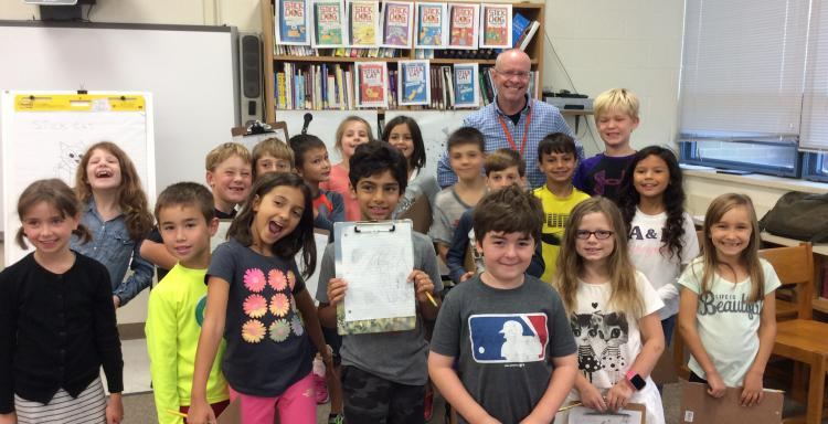 Tom Watson Visits West School