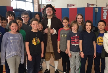 Ben Franklin Visits Fourth Grade