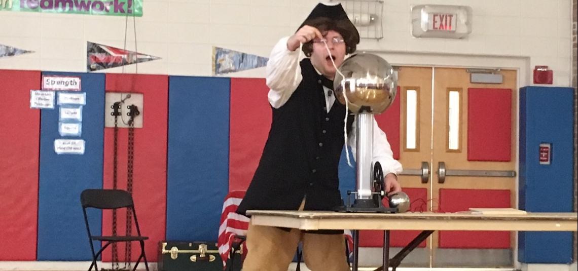 Ben Franklin Visits Fourth Grade