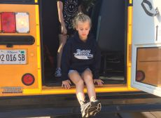 Bus Evacuation Drill Photo